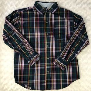 Nautica Plaid Button Down Shirt Long Sleeve